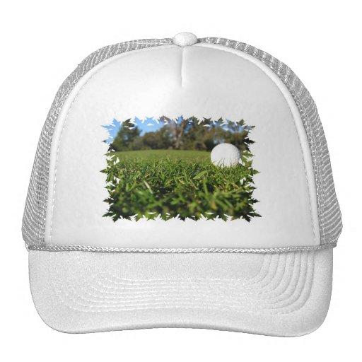 Golf Ball on Golf Course Baseball Hat