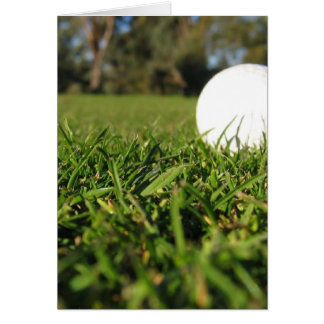 Golf Ball on Golf Course Greeting Card