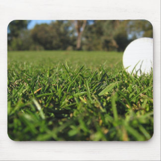 Golf Ball on Golf Course Mouse Pad