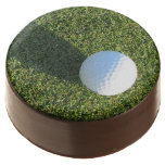 Golf Ball on Golf Green Chocolate Dipped Oreo