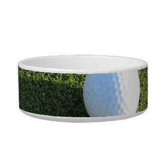 Golf Ball on Golf Green Pet Bowl Cat Food Bowls
