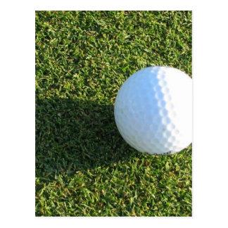 Golf Ball on Golf Green Postcard