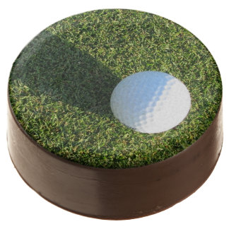 Golf Ball on Golf Green Chocolate Dipped Oreo
