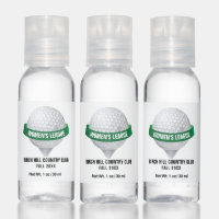 Golf Ball on Golfing Tee, Golfer Hand Sanitizer