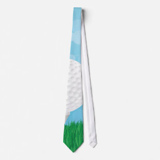 golf ball on grass tie