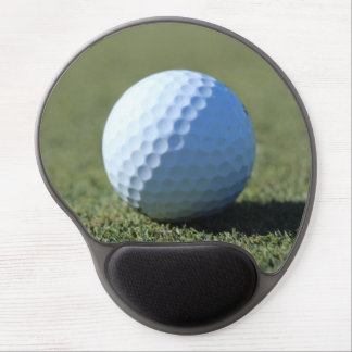 Golf Ball on Green close-up photo Gel Mouse Pad