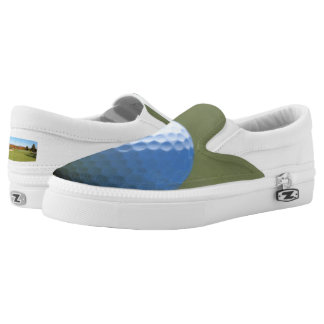 Golf Ball on Green close-up photo Slip-On Sneakers