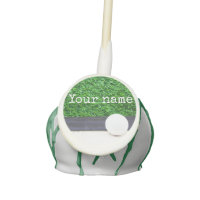 Golf ball on green grass cake pops