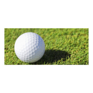 Golf Ball On Green Grass Course - Customized Personalized Invitation