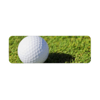Golf Ball On Green Grass Course - Customized Label