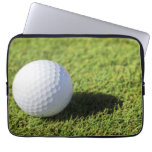Golf Ball On Green Grass Course - Customized Laptop Computer Sleeves