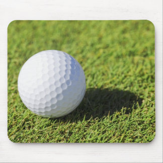 Golf Ball On Green Grass Course - Customized Mouse Pad