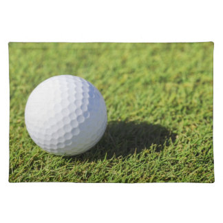 Golf Ball On Green Grass Course - Customized Placemat