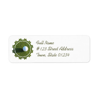 Golf Ball on Green Mailing Label
