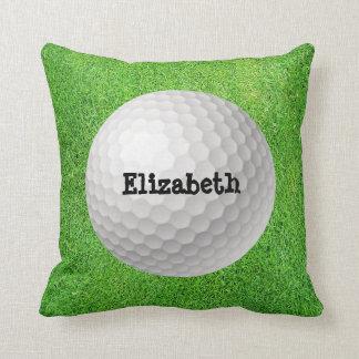 Golf Ball on Green Pillow