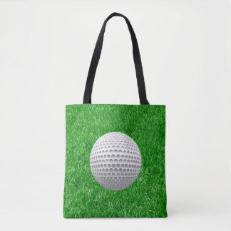 Golf Ball On Lawn Tote Bag