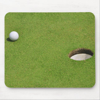 Golf Ball on Putting Green Mouse Pad