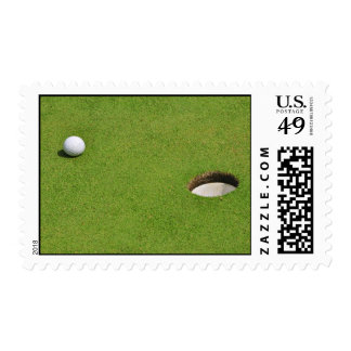Golf Ball on Putting Green Stamp