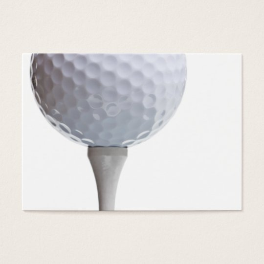 Golf Ball on Tee- Customized Business Card