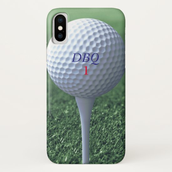 Golf Ball on Tee Golfers Green iPhone XS Case
