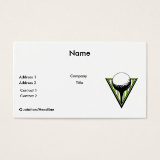 golf ball on tee graphic business card