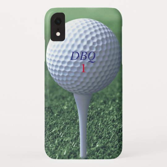 Golf Ball On Tee Modern Golfers Monogram Green Case Mate Iphone Case Zazzle Com