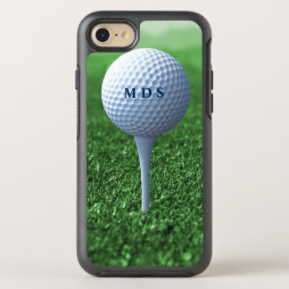 Golf Ball on Tee Monogram Otterbox for Golfers OtterBox Symmetry iPhone 8/7 Case