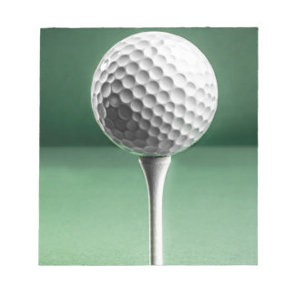 Golf Ball on Tee Notepad