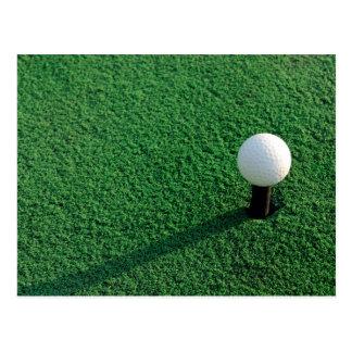 Golf Ball on Tee Postcard