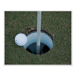 Golf Ball on the Edge Poster