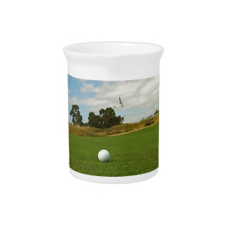 Golf Ball On The Green, Beverage Pitcher