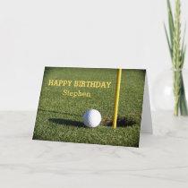 The gift rx golf cards golf ball on the green birthday custom card m4hsunfo