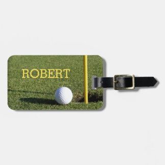 Golf Ball on the Green | Golfing Luggage Tag