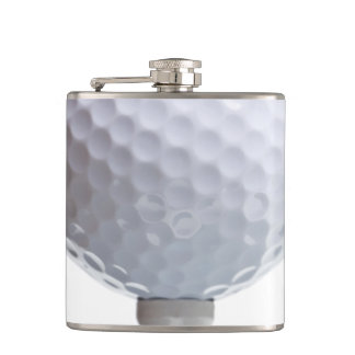 Golf Ball on White Template Background Texture Flask