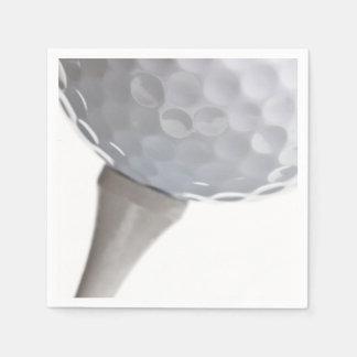 Golf Ball on White Template Napkin