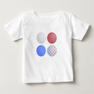 GOLF BALL PATRIOTIC DESIGN, 4TH JULY GOLFER GIFT BABY T-Shirt