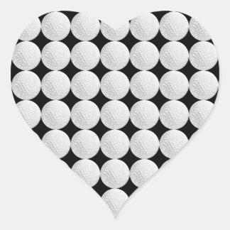 Golf Ball Pattern Heart Sticker
