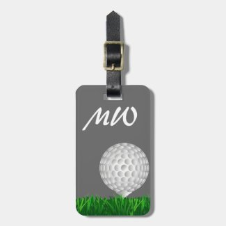 Golf ball personalized golfer luggage tag