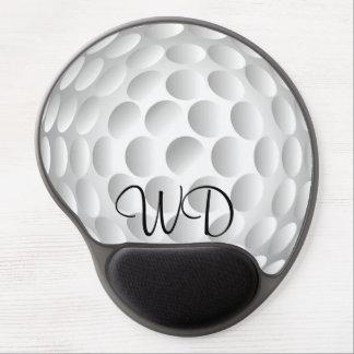 Golf ball personalized monogram gel mousepads