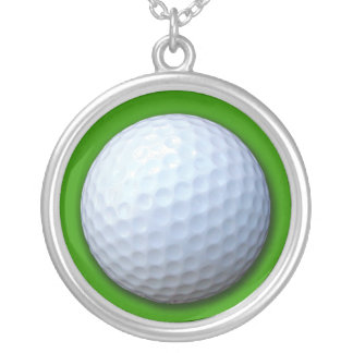 Golf Ball Photo Necklace