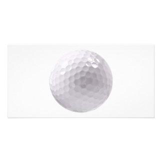 Golf ball custom photo card