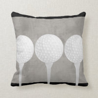 golf ball pillow design distressed gray