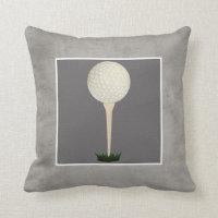 golf ball pillow photo art on gray