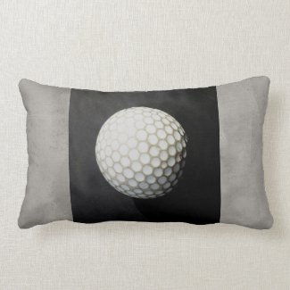 golf ball pillow photo art on gray