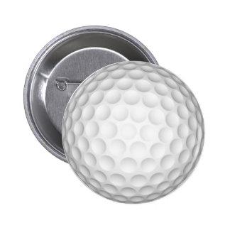 Golf Ball Pinback Button