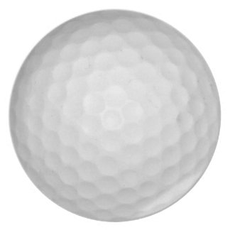 Golf Ball Party Plate