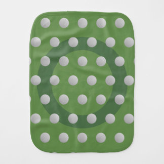Golf Ball Polkadot Pattern Moss Green Burp Cloth