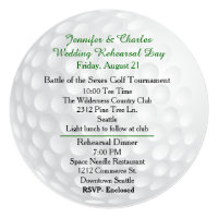 Golf Ball Pre Wedding Festivities Invitation