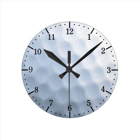 Golf Ball Print Pattern Background Round Clock