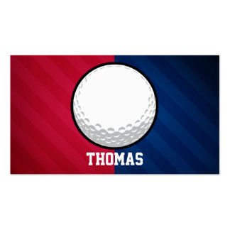 Golf Ball; Red, White, and Blue Business Card